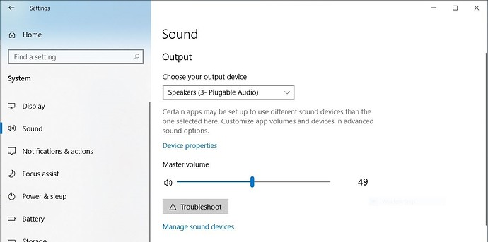 Windows 10 Default Audio Output Settings